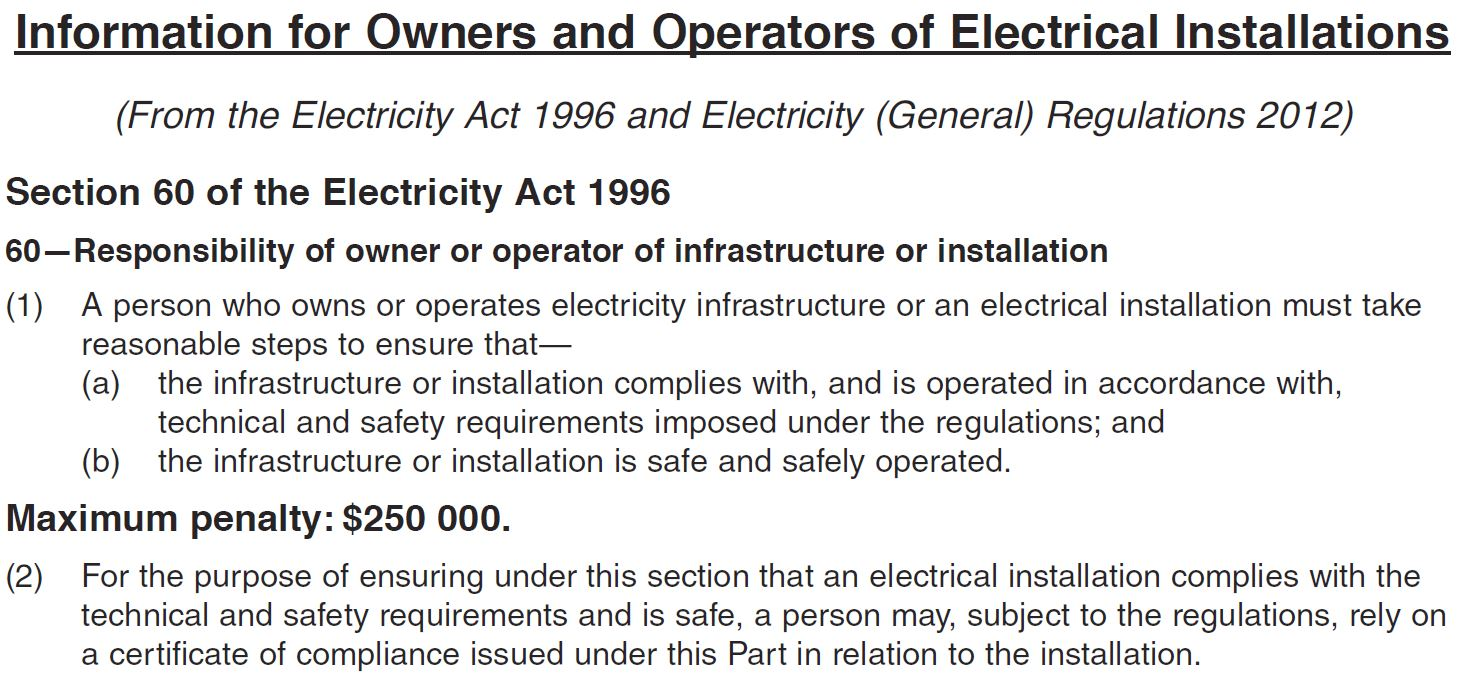 Section 60 of the Electricity Act 1996